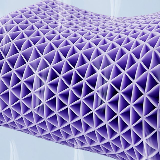 Newest Technology 3D TPE Honeycomb Orthopedic Neck Massage Pillow No Pressure Cooling Sleep Long Using Life Galaxy Homie